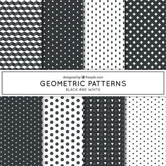 흑백의 다른 기하학적 패턴