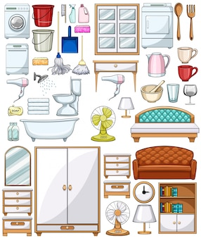 Различные бытовые приборы и мебель