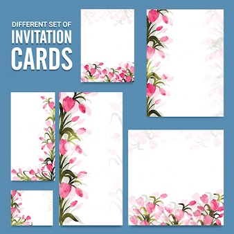 Different invitation cards template layout.