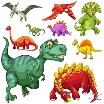 different kind of dinosaurs illustration_1308 2114