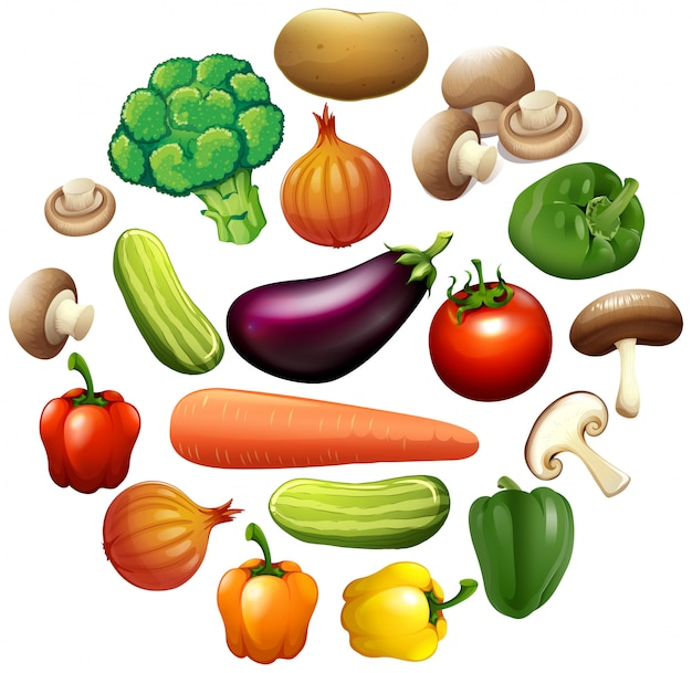 Different kind of vegetables