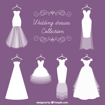 Different kinds of bride dress