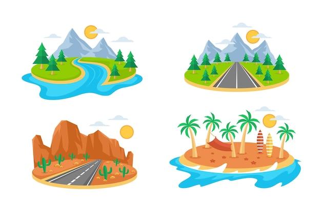 Коллекция различных пейзажей