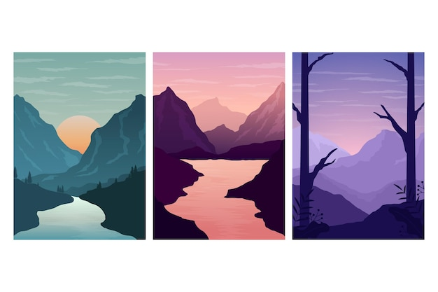 Different landscape collection