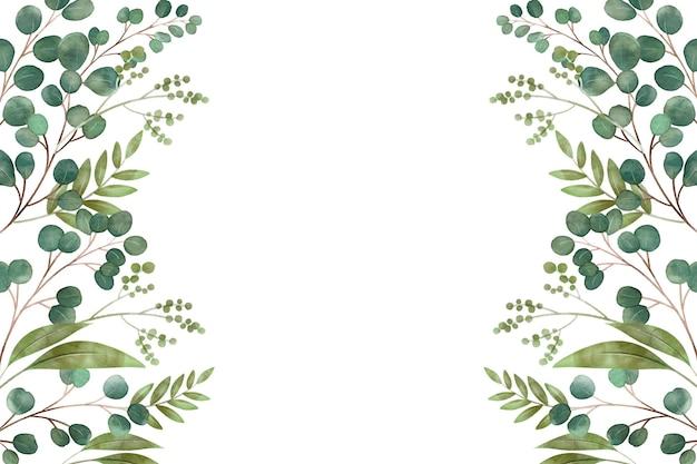 別の葉のコピースペース