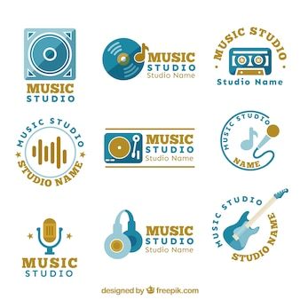 Different logos for a music studio
