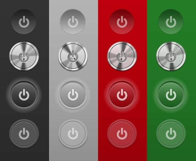 Различные кнопки mac не зависят от фона