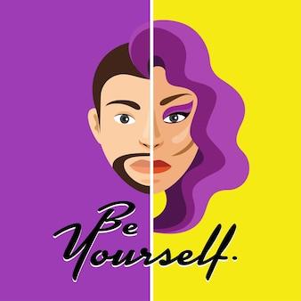 Uomo e donna diversi.