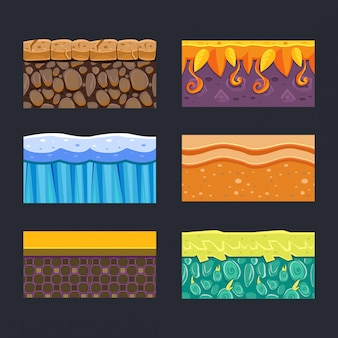 Different materials and textures for the game