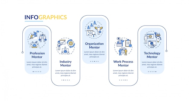 Different mentors vector infographic template