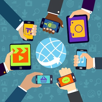 Different mobile applications