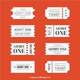 Different movie ticket collection