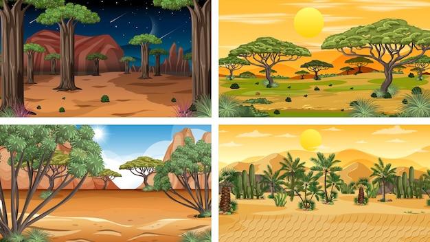 Горизонтальные сцены различной природы