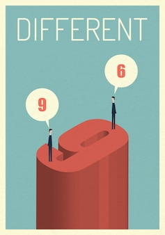 Different opinions vector illustration