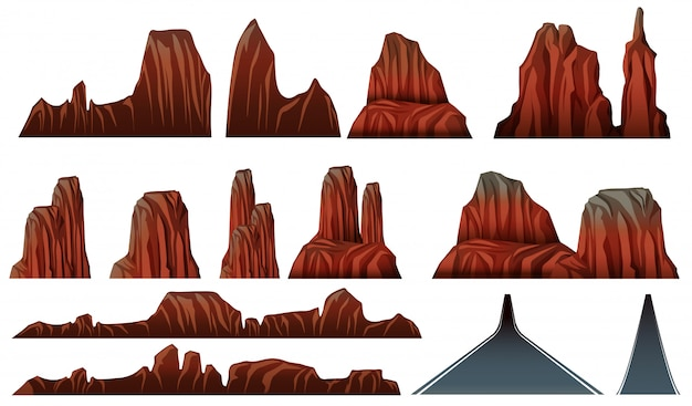 Different patterns of canyons and roads