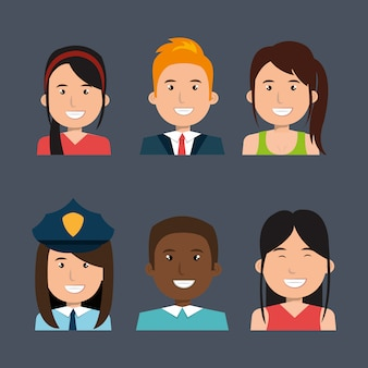 Different people avatar pack
