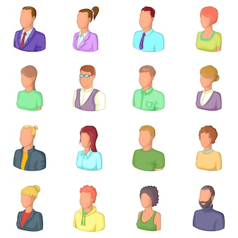 Different people icons set
