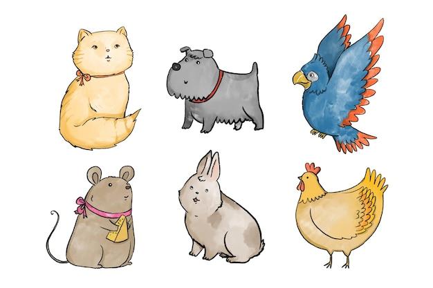 Различный дизайн коллекции домашних животных