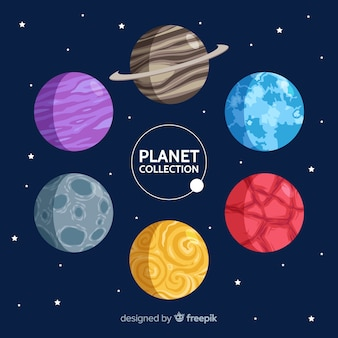 Different planets from solar system collection