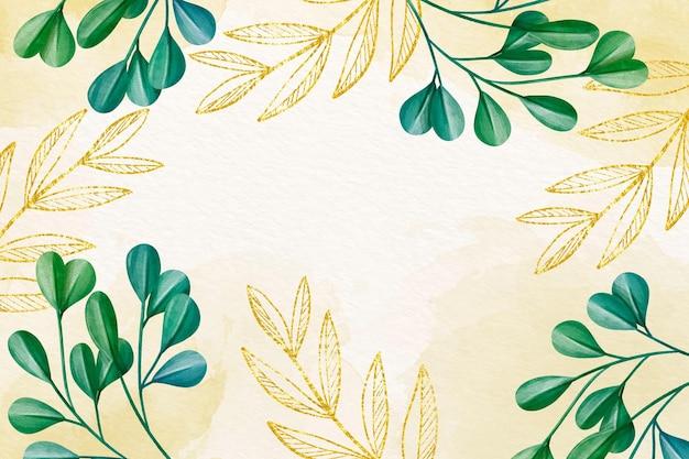 空のスペースを持つさまざまな植物の壁紙