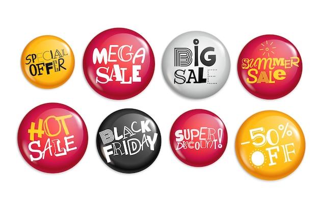 다른 판매 자석 버튼입니다. 특별 제공 배너 컬렉션