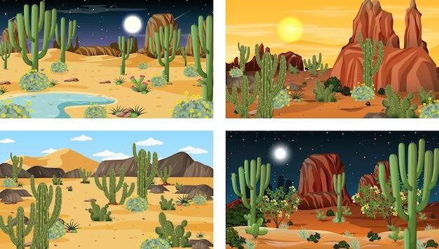 사막의 숲 풍경과 다른 장면
