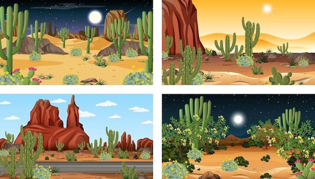 사막 숲 풍경과 다른 장면