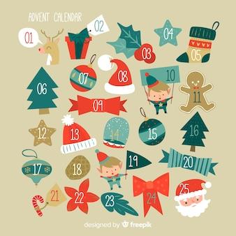 Different shapes advent calendar