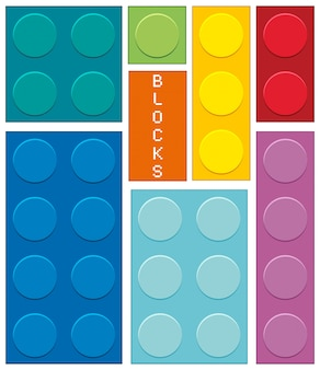 Different shapes and  colors of blocks