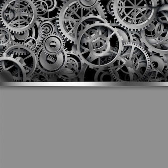 Different shapes gears with text space