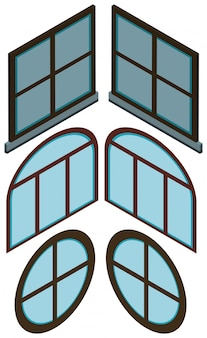 Different shapes of windows