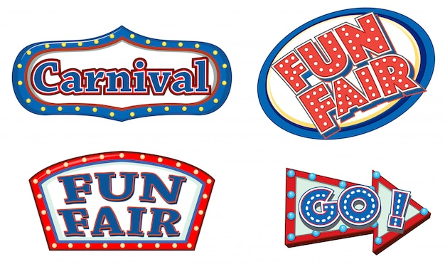 Different sign template for carnival