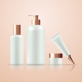 Different skin care products set