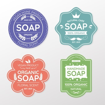 Different soap labels set