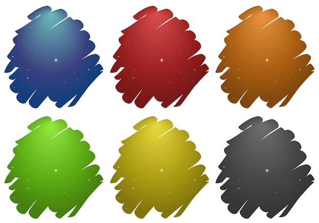 色の異なるストローク