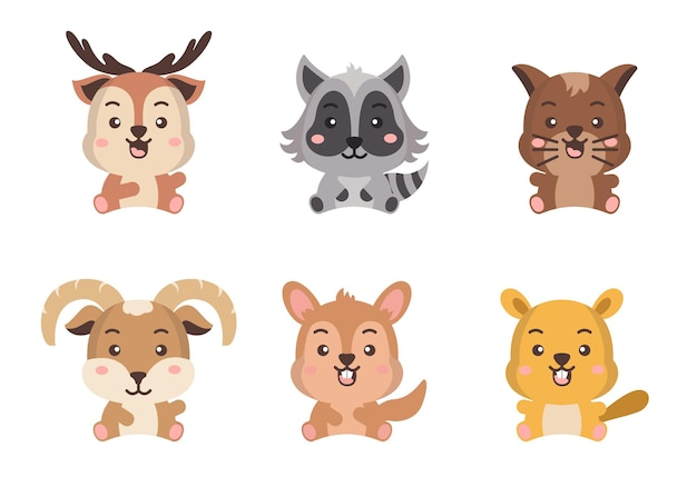 Different style of wild animal