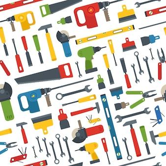 다른 도구 벡터 원활한 패턴