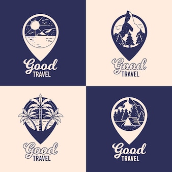 Different travel logos pack
