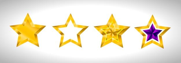 Различные типы и формы золотых звезд.