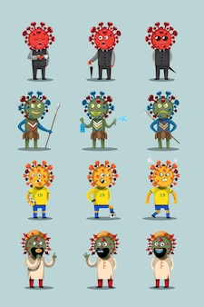 Different types of corona virus
