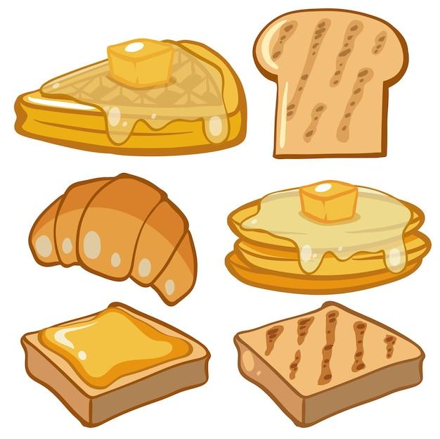 朝食用のさまざまな種類のパン