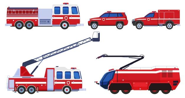Различные виды пожарного транспорта для тушения пожара