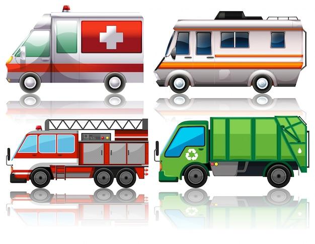 Различные виды грузовиков