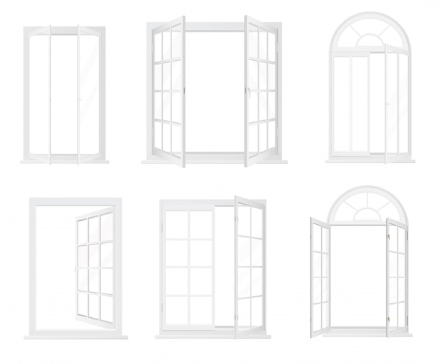Different types of realistic windows