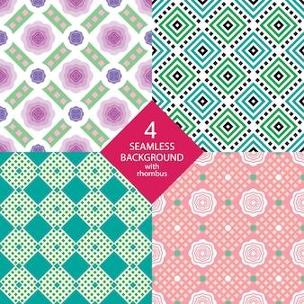 Различные варианты орнамента с бриллиантами и цветами.