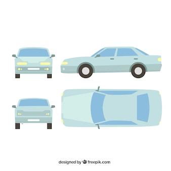 Различные виды плоского автомобиля