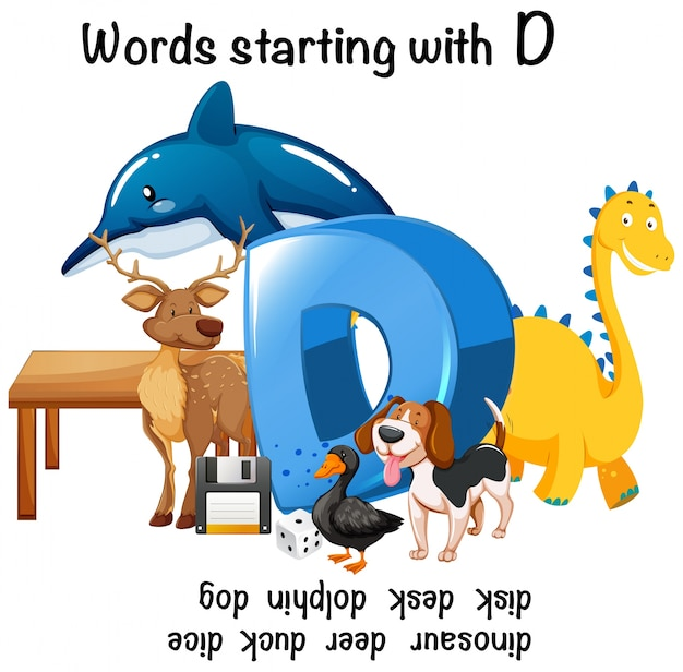 Different words starting with d