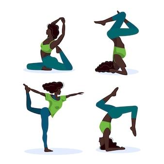 Различные позы йоги