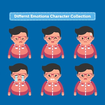 Differnt emotions character collection