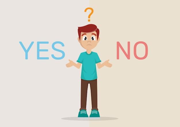 어려운 결정 : 예 또는 아니오